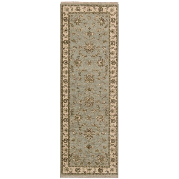 Degory Hand-Knotted Aqua Area Rug by Darby Home Co