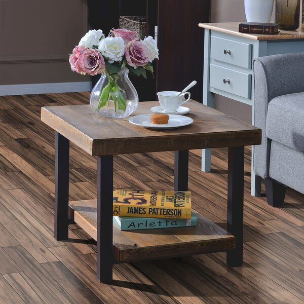 Pelaez Solid Wood 4 Legs Nesting Table with Storage by 17 Stories 17 Stories