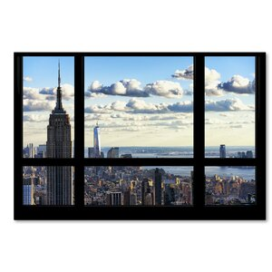 Window View Manhattan Photographic Print on Wrapped Canvas by Latitude Run