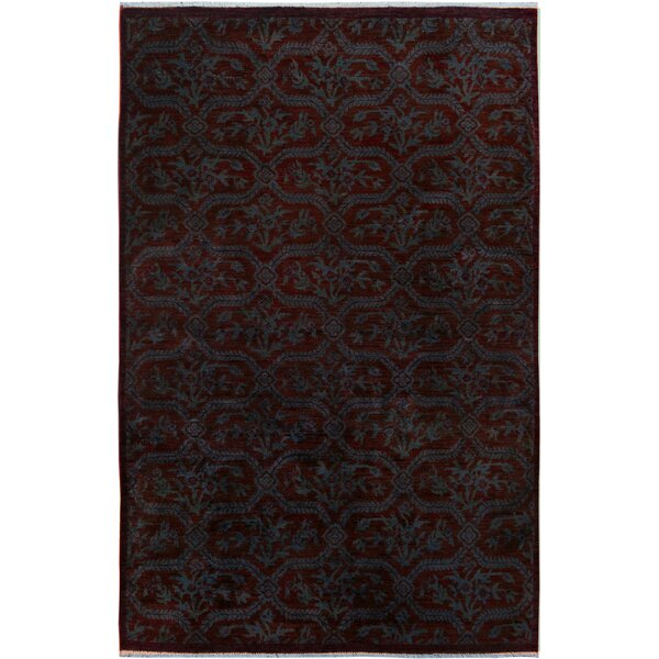 One-of-a-Kind Aberdeen Hand-Knotted Wool Brown/Blue Area Rug by Isabelline