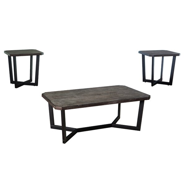Brockway 3 Piece Occasional Coffee Table Set by Williston Forge
