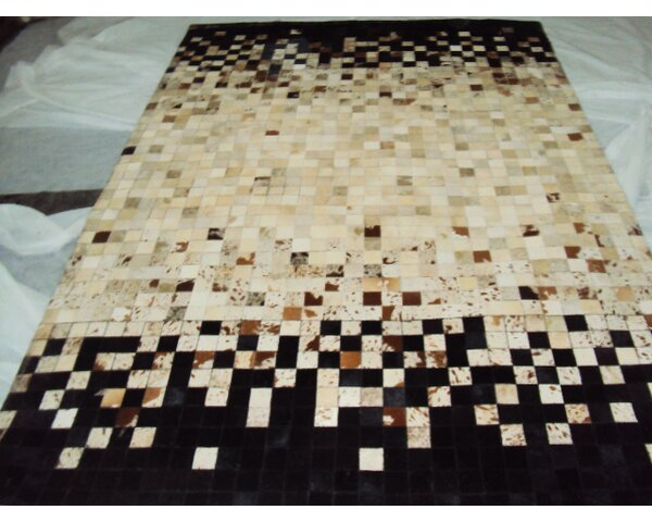 Patchwork Static Spectrum Beige/BlackArea Rug by Modern Rugs