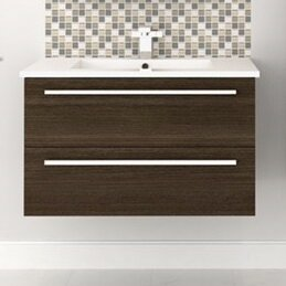 Silhouette Wall Hung 30 Single Bathroom Vanity Set by Cutler Kitchen & Bath