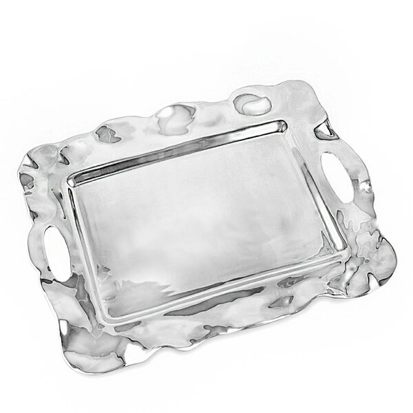 Vento Rebecca Rect Tray with Handles Platter by Beatriz Ball