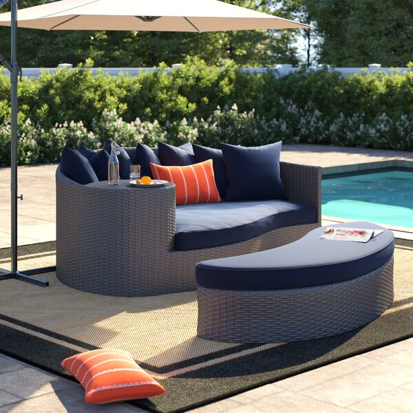 Tripp Patio Daybed With Cushions By Brayden Studio