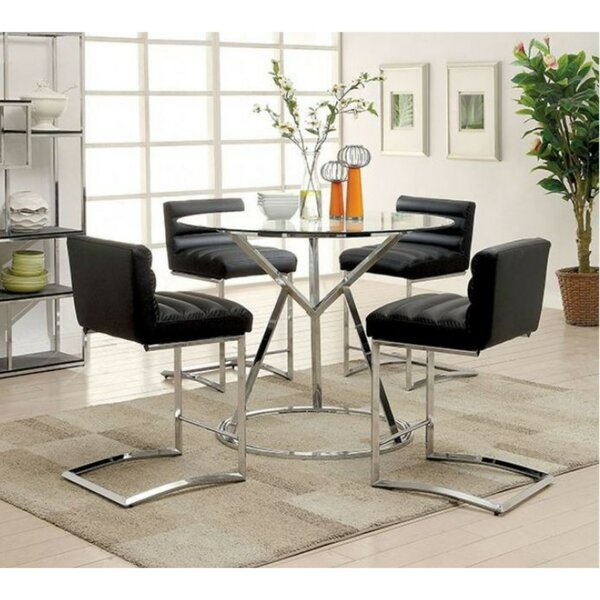 Becket Contemporary 5 Piece Pub Table Set by Orren Ellis
