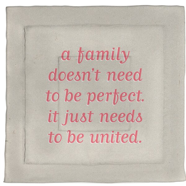 Family Love Quote Single Reversible Comforter
