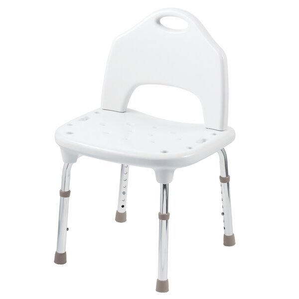 Adjustable Shower Chair in Glacier by Home Care by Moen