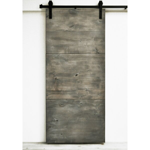 Modern Slab Wood 1 Panel Interior Barn Door by Dogberry Collections