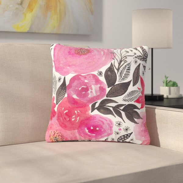 Li Zamperini Garden Rose Floral Outdoor Throw Pillow by East Urban Home