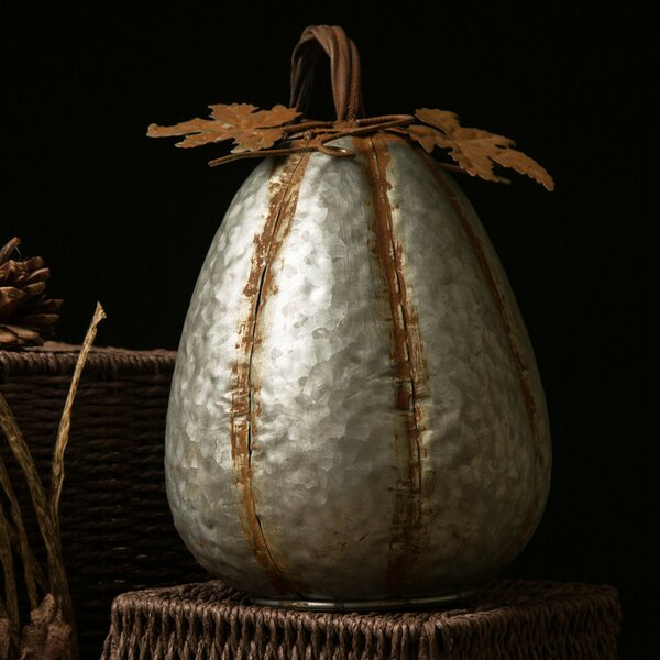 Galvanized Pumpkin Tall by The Holiday Aisle