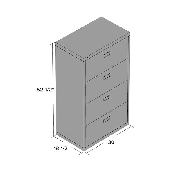 Jennie 4 Drawer File by Symple Stuff