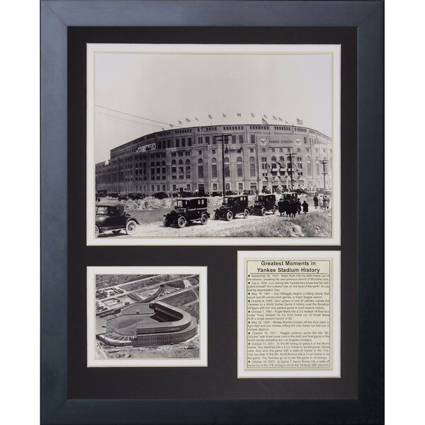 1923 Yankee Stadium Framed Memorabilia by Legends Never Die