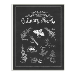 Vintage Sign 'Culinary Herbs' Graphic Art Print by Stupell Industries
