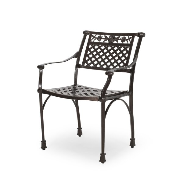 Veronica Outdoor Patio Dining Chair (Set of 2) by Fleur De Lis Living