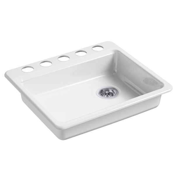 Riverby 25 L x 22 W Undermount Single Bowl Kitchen Sink by Kohler