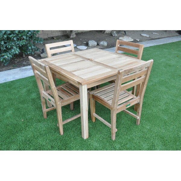 Krause 5 Piece Teak Dining Set by Bayou Breeze