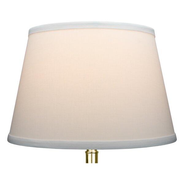 7 H x 11 W Linen Empire Lamp Shade ( Spider ) in White