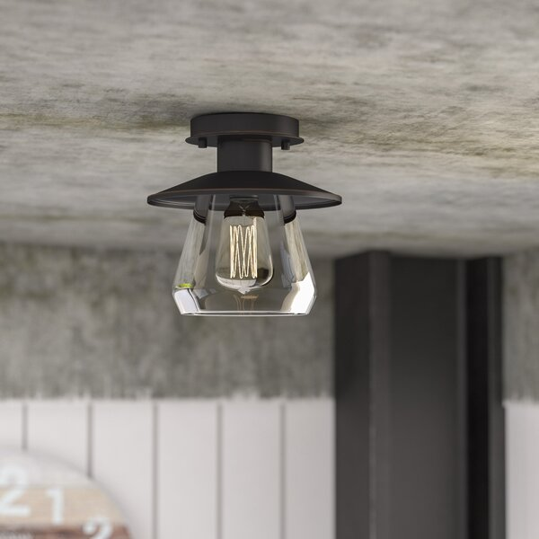 Birmingham La Grange 1-Light Semi Flush Mount by T
