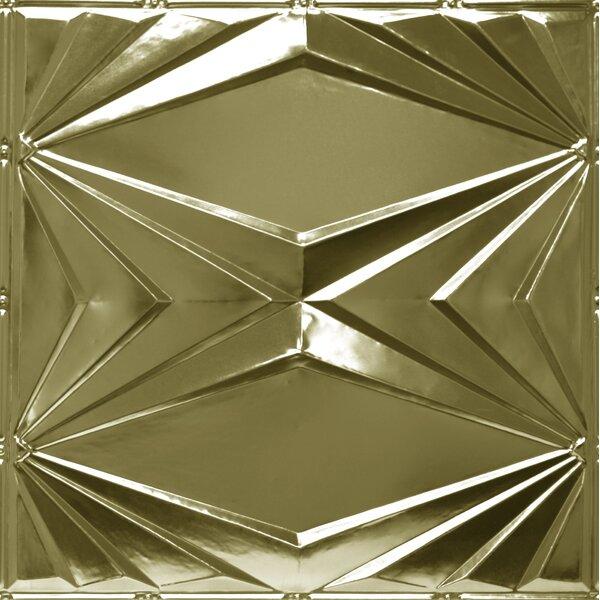 24 x 24 Metal Tile in Brass by Shanko