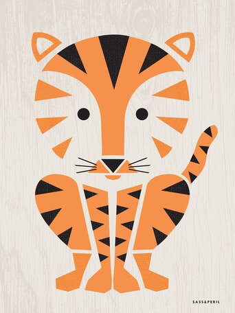 Modern Animals Tiger Canvas Art by Oopsy Daisy