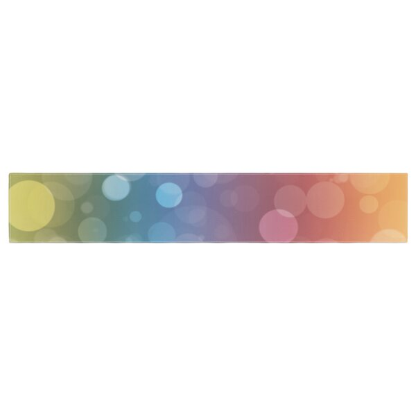 Prism Bokeh Table Runner by East Urban Home