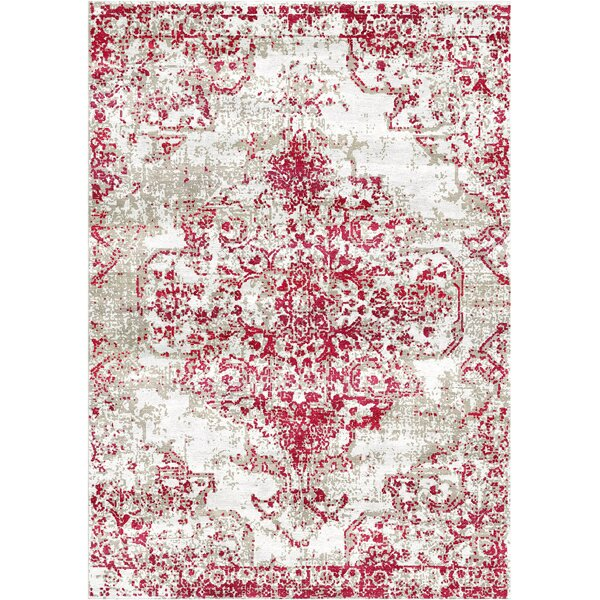 Aliza Handloom Red Area Rug by Bungalow Rose