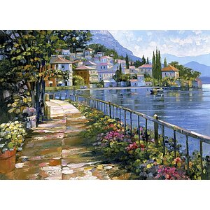 Sunlit Stroll by Howard Behrens Painting Print on Canvas by Fleur De Lis Living