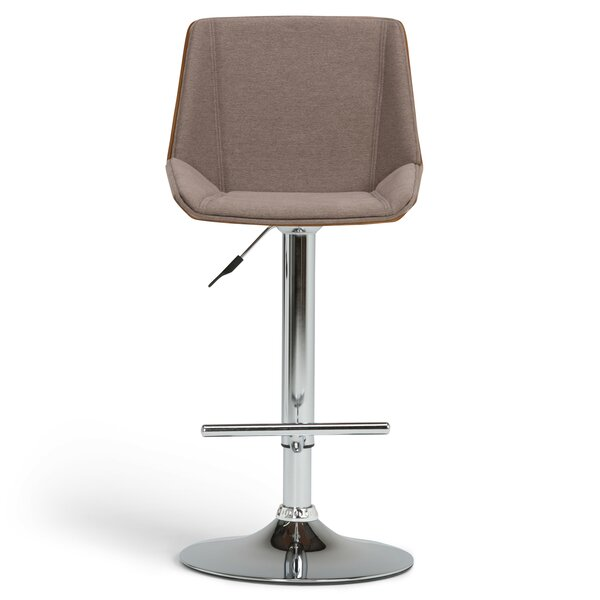 Tollson Adjustable Height Swivel Bar Stool by Simpli Home