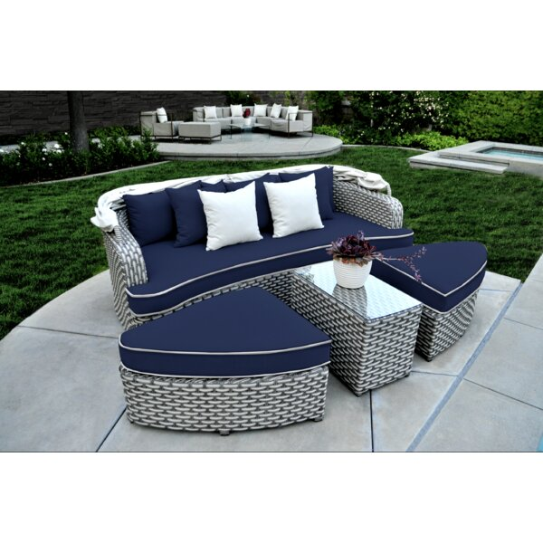 Benjamin Patio Daybed with Cushions by Rosecliff Heights