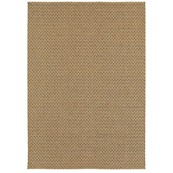 Verbena Golden Wheat Indoor/Outdoor Area Rug by Bay Isle Home