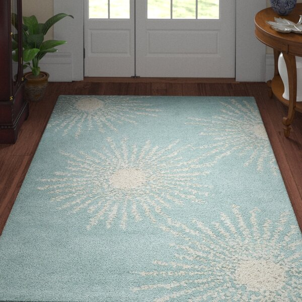Germain Hand-Tufted Green Area Rug by Three Posts