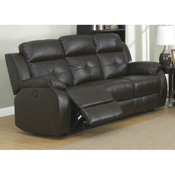 Morelock Leather Reclining Sofa By Red Barrel Studio