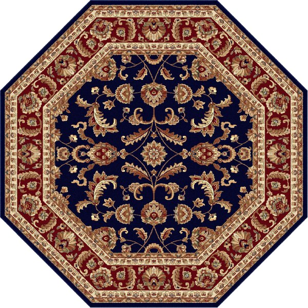 Clarence Navy Blue/Red Area Rug by Astoria Grand