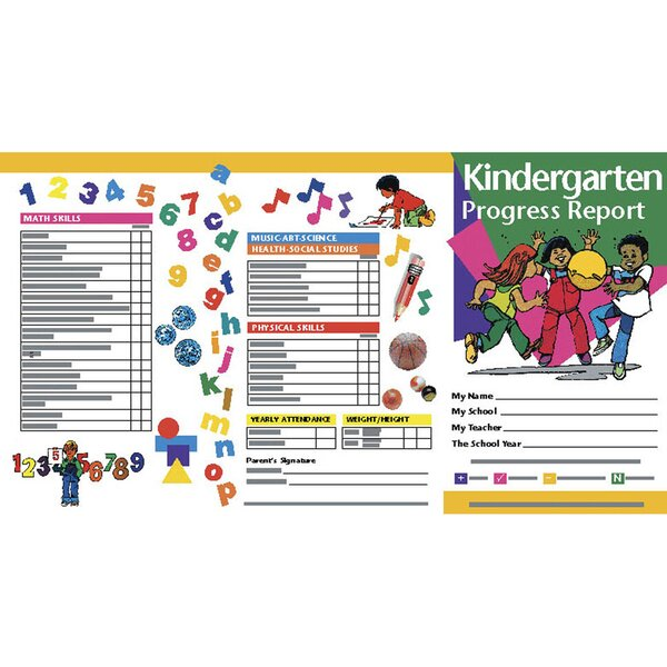 Kindergarten Progress Reports Chart (Set of 10) by Hayes School Publishing