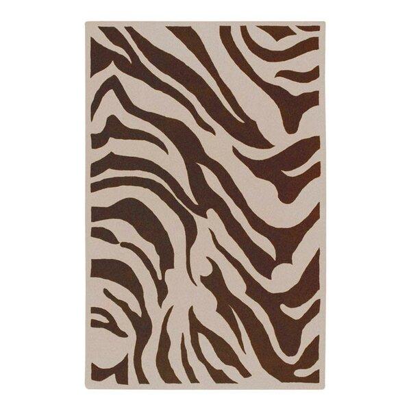 Akiva Zebra Print Area Rug by Bloomsbury Market