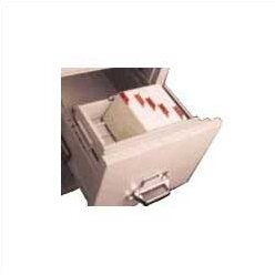 Legal Size Vertical and Lateral File Cross Tray for 4 H x 6 W Cards by FireKing