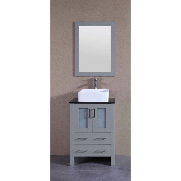 Peru 24 Single Bathroom Vanity Set with Mirror by Bosconi