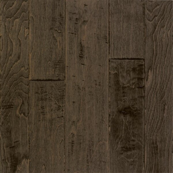 Artesian Random Width Engineered Birch Hardwood Flooring in Steel Brown by Armstrong Flooring