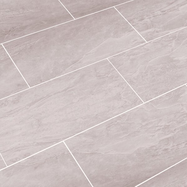 Luxury ThinLine 12 x 24 Porcelain Field Tile in Oyster Gray by SnapStone