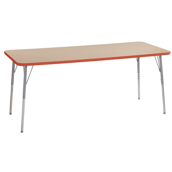 Maple Contour Thermo-Fused Adjustable 30 x 72 Rectangular Activity Table by ECR4kids
