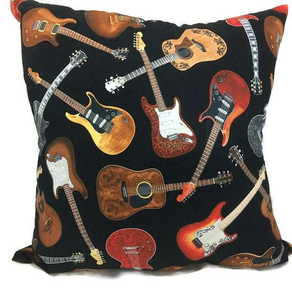 Guitar Throw Pillow by East Urban Home