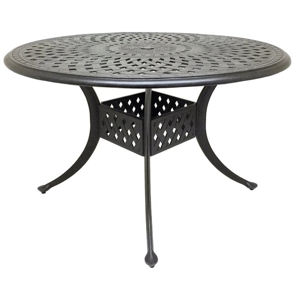 Campion Cast Aluminum Dining Table by Fleur De Lis Living