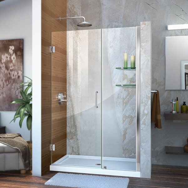 Unidoor 45 x 72 Hinged Frameless Shower Door with Clearmax™ Technology by DreamLine