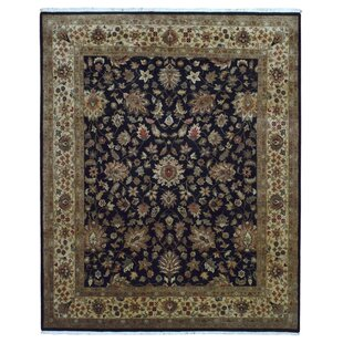 Searching for One-of-a-Kind Gracinha Tabriz Hand-Knotted Wool Black/Beige Area Rug By Isabelline