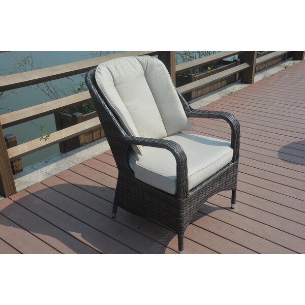 Moira Recliner Patio Chair with Cushions (Set of 2) by Rosecliff Heights Rosecliff Heights