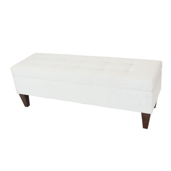 Woodside Upholstered Storage Bench by Alcott Hill