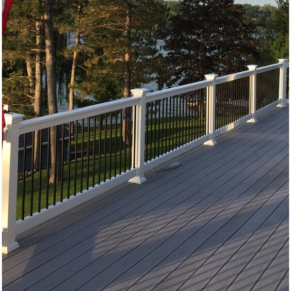 Beaumont Straight Railing by Vinyl Fence Wholesaler