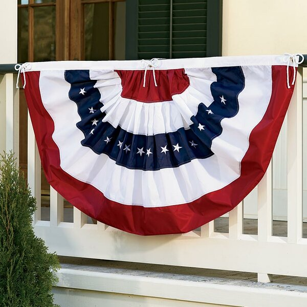 Americana Bunting Pleated Flag by Wind & Weather