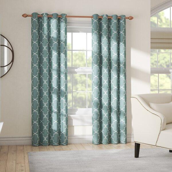 Izquierdo Geometric Blackout Thermal Grommet Curtain Panels (Set of 2) by Alcott Hill